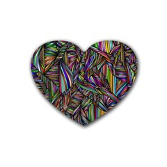 Background Wallpaper Abstract Lines Heart Coaster (4 Pack)