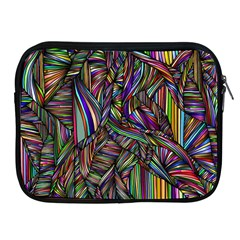 Background Wallpaper Abstract Lines Apple Ipad 2/3/4 Zipper Cases