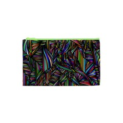 Background Wallpaper Abstract Lines Cosmetic Bag (xs)