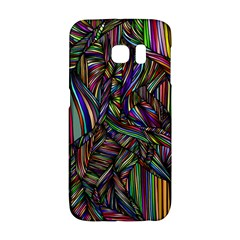 Background Wallpaper Abstract Lines Samsung Galaxy S6 Edge Hardshell Case by Nexatart