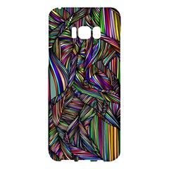 Background Wallpaper Abstract Lines Samsung Galaxy S8 Plus Hardshell Case