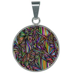 Background Wallpaper Abstract Lines 25mm Round Necklace