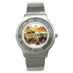 Architecture Castle Fairy Castle Stainless Steel Watch