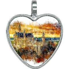 Architecture Castle Fairy Castle Heart Necklace