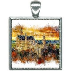 Architecture Castle Fairy Castle Square Necklace