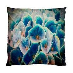 Hydrangeas Blossom Bloom Blue Standard Cushion Case (two Sides) by Nexatart