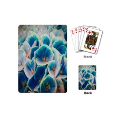 Hydrangeas Blossom Bloom Blue Playing Cards (mini) by Nexatart