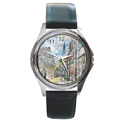 Altstadt Hattingen Ruhr Trail Round Metal Watch by Nexatart