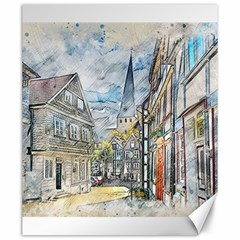 Altstadt Hattingen Ruhr Trail Canvas 20  X 24  by Nexatart