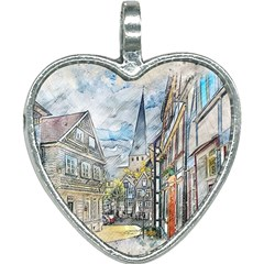 Altstadt Hattingen Ruhr Trail Heart Necklace