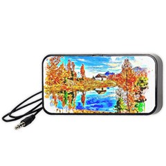 Lake Chalet Mountain Art Portable Speaker