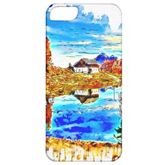 Lake Chalet Mountain Art Apple Iphone 5 Classic Hardshell Case by Nexatart