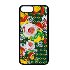 Canal Flowers Pattern Chaos Green Small Apple Iphone 8 Plus Seamless Case (black) by bywhacky