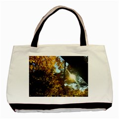 Fall Yellow Swirly Sunlight Basic Tote Bag (two Sides)