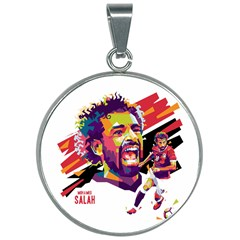 Mo Salah The Egyptian King 30mm Round Necklace by 2809604