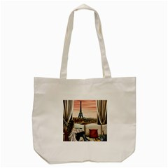 Parisian Dreams  Tote Bag (cream) by ArtByThree