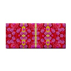 Roses And Butterflies On Ribbons As A Gift Of Love Hand Towel by pepitasart