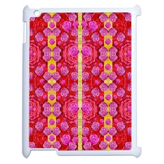 Roses And Butterflies On Ribbons As A Gift Of Love Apple Ipad 2 Case (white) by pepitasart