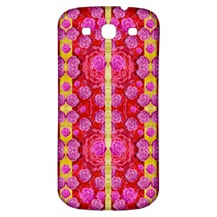 Roses And Butterflies On Ribbons As A Gift Of Love Samsung Galaxy S3 S Iii Classic Hardshell Back Case by pepitasart