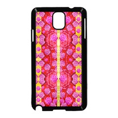 Roses And Butterflies On Ribbons As A Gift Of Love Samsung Galaxy Note 3 Neo Hardshell Case (black)