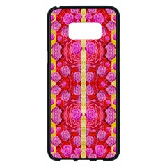 Roses And Butterflies On Ribbons As A Gift Of Love Samsung Galaxy S8 Plus Black Seamless Case