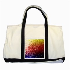 Rainbow Glitter Graphic Two Tone Tote Bag