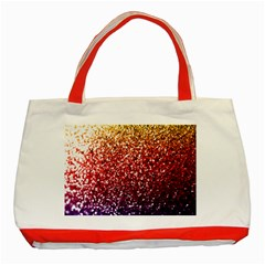 Rainbow Glitter Graphic Classic Tote Bag (red)