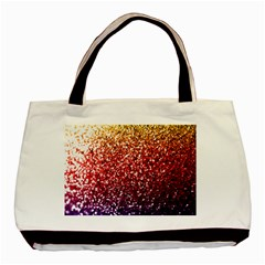 Rainbow Glitter Graphic Basic Tote Bag (two Sides)