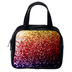 Rainbow Glitter Graphic Classic Handbag (one Side) by bloomingvinedesign