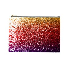Rainbow Glitter Graphic Cosmetic Bag (large)