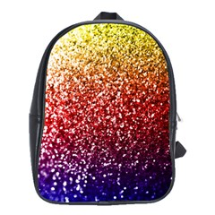 Rainbow Glitter Graphic School Bag (large)