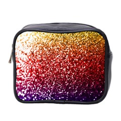 Rainbow Glitter Graphic Mini Toiletries Bag (two Sides)