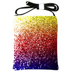 Rainbow Glitter Graphic Shoulder Sling Bag