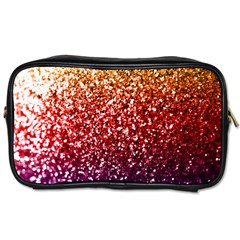 Rainbow Glitter Graphic Toiletries Bag (two Sides)