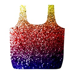 Rainbow Glitter Graphic Full Print Recycle Bag (l)