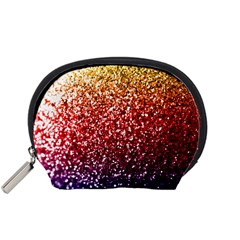 Rainbow Glitter Graphic Accessory Pouch (small)