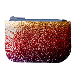 Rainbow Glitter Graphic Large Coin Purse