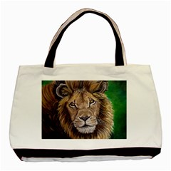 Lion Basic Tote Bag (two Sides) by ArtByThree