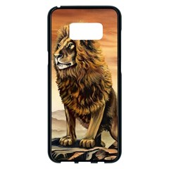 Golden Lion Samsung Galaxy S8 Plus Black Seamless Case by ArtByThree