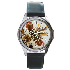 Holy Land Flowers 2 Round Metal Watch