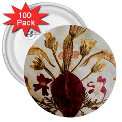 Holy Land Flowers 3 3  Buttons (100 Pack)  by DeneWestUK