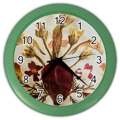 Holy Land Flowers 3 Color Wall Clock by DeneWestUK