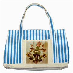 Holy Land Flowers 12 Striped Blue Tote Bag by DeneWestUK