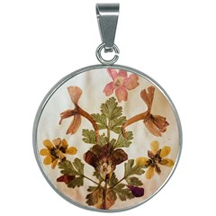 Holy Land Flowers 12 30mm Round Necklace