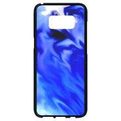 Light Blue Silver Waves Samsung Galaxy S8 Black Seamless Case