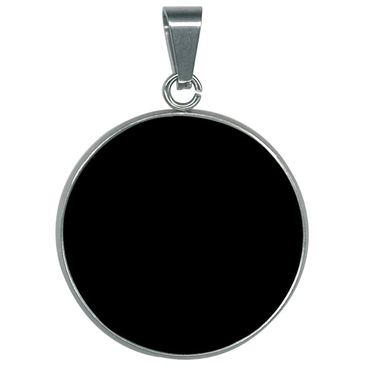 Define Black 30mm Round Necklace