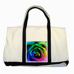 Rainbow Rose 17 Two Tone Tote Bag