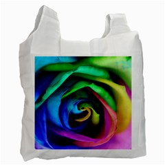 Rainbow Rose 17 Recycle Bag (one Side)