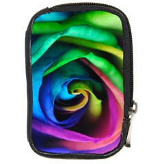 Rainbow Rose 17 Compact Camera Leather Case