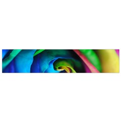 Rainbow Rose 17 Small Flano Scarf